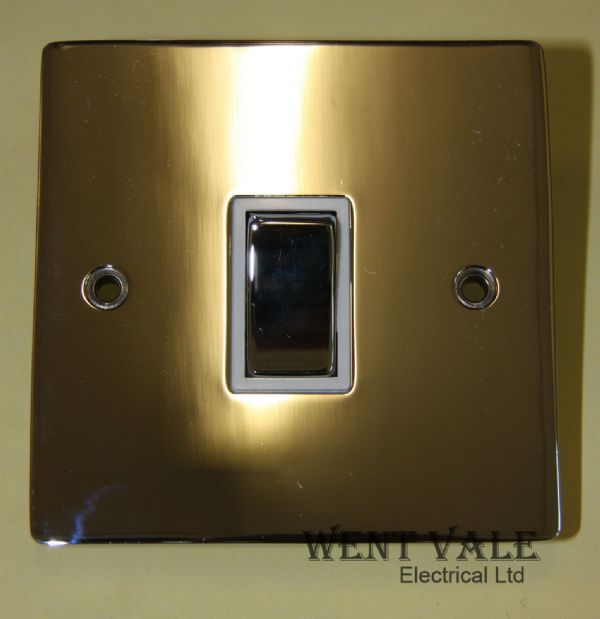 Heritage Brass T02.800.PCW - 10ax 1 Gang 2 Way Flat Plate Switch Un-used in Box